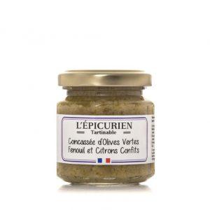 Concassée d'Olives Vertes Fenouil Citrons Confits 100g