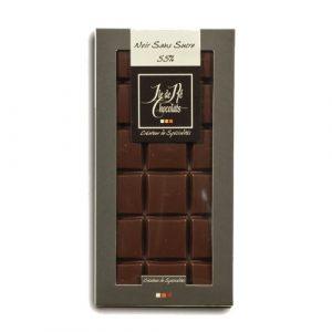Tablette Chocolat Noir 55% sans sucre  100g