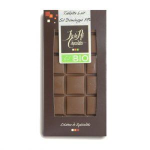 Tablette Chocolat Lait 37% St Domingue BIO 100g