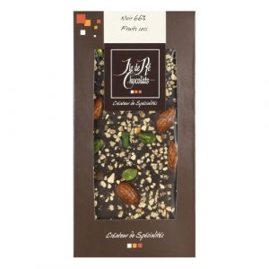 Tablette Chocolat Noir 66% fruits secs 100g