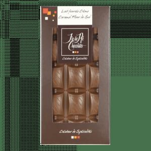 Tablette Chocolat Lait fourrée crème caramel 100g