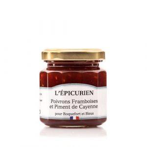 Confit de Poivrons Framboises et Piment de Cayenne 125g