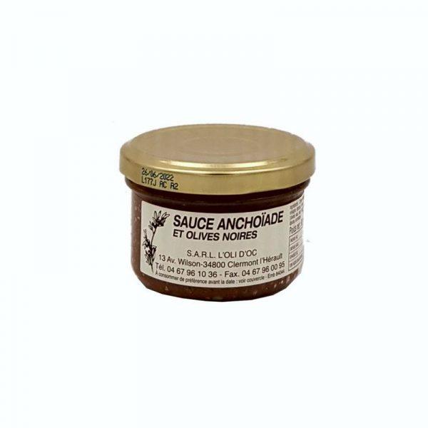Sauce anchoïade et olives noires