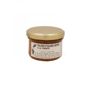 Pulpe d'Olives Vertes à la Tomate 90g